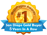 Awarded Best Gold Buyer in San Diego